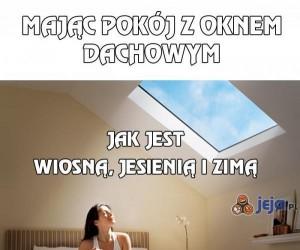 Mając pokój z oknem dachowym