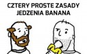 Cztery proste zasady jedzenia banana
