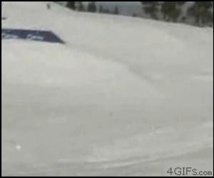 Wyskoczył z nart