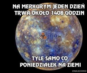 Długi dzień na Merkurym