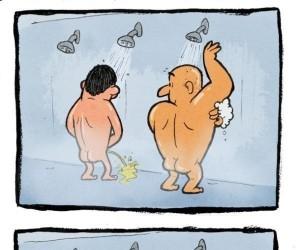 Złe zachowanie pod prysznicem