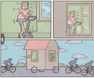 Gdy jesteś domatorem, ale kolarstwo to życie