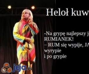 """Na grype najlepszy """"rumianek"""""""