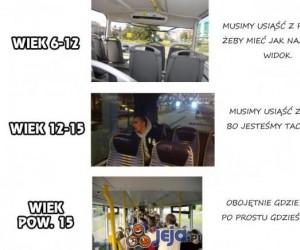 Gdzie chcesz siedzieć w autobusie
