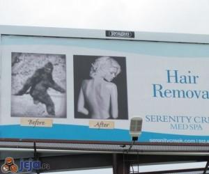 Reklama usuwania włosów