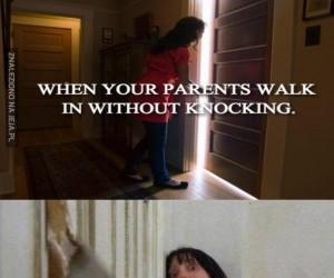 Gdy rodzice wchodzą bez pukania