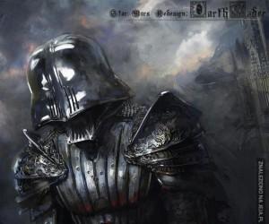 Epicki średniowieczny Vader