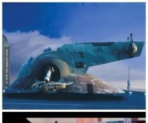 Jak powstawały kiedyś tła do Gwiezdnych Wojen