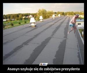 Asasyn szykuje się do zabójstwa prezydenta