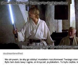 Historii tego miecza i tak byś nie zrozumiał