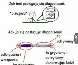 Instrukcja obsługi długopisu