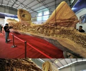 Chiński rzeźbiarz spędził nad tym dziełem 4 lata