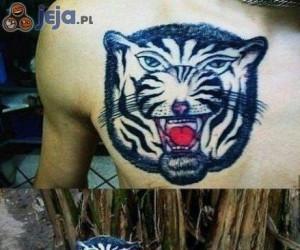 """""""Bardzo realistyczny"""" tatuaż"""