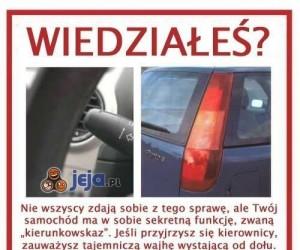 Przydatna opcja w samochodzie