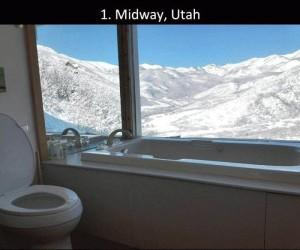 Toaleta z widokiem na...