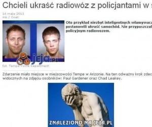 Chcieli ukraść radiowóz z policjantami w środku...