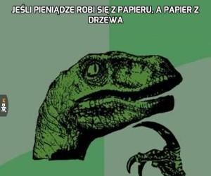 Jeśli pieniądze robi się z papieru, a papier z drzewa