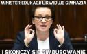 Minister edukacji likwiduje gimnazja