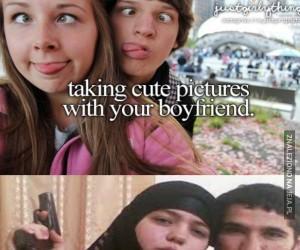 Słodkie zdjęcia z chłopakiem