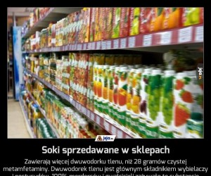 Soki sprzedawane w sklepach