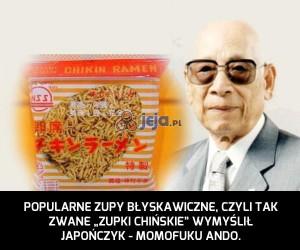 Zupki chińskie wymyślił Japończyk