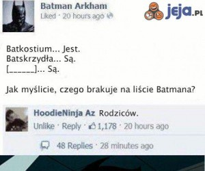 Batman oficjalnie strollowany