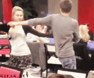 Dla niego taniec na pewno był udany...