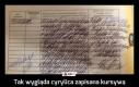 Tak wygląda cyrylica zapisana kursywą