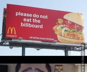 Brzydki grubas! Nie jedz bilbordu!