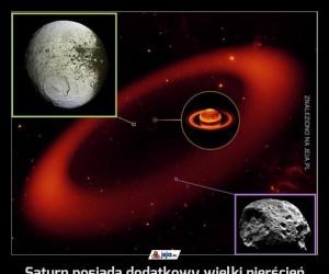 Saturn posiada dodatkowy wielki pierścień