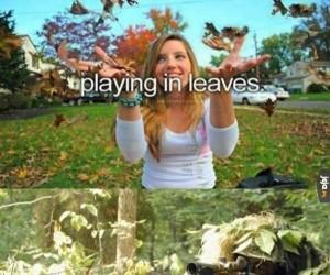 Zabawa w liściach