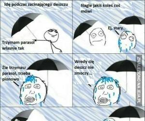 Jak trzymać parasol