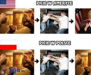 Picie w Ameryce i Polsce