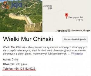 Telefon na Wielki Mur Chiński