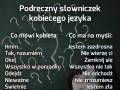 Prosty słowniczek kobiecego języka