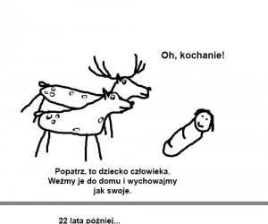 Wychowana przez jelenie