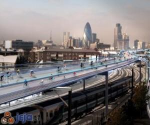 Londyn rozważa drogę dla rowerów nad torami