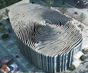 Budynek w kształcie odcisków placów w Tajlandii