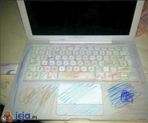 Zostawić dziecko na 5 min z laptopem ...