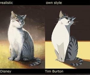 Ten sam kot, różne style