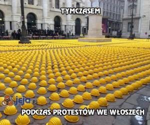 Tymczasem podczas protestów we Włoszech