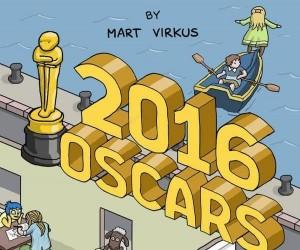 Oscary 2016 na jednej ilustracji