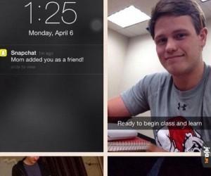 Kiedy Twoja mama założy Snapchata