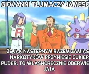 Giovanni tłumaczy Jamesowi