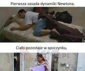 Pierwsza zasada dynamiki Newtona