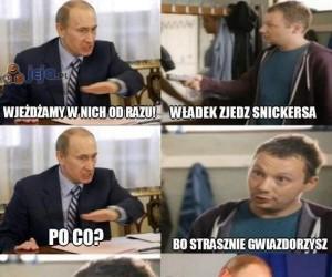 Putin gwiazdorzy
