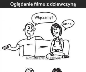 Oglądanie filmu z dziewczyną