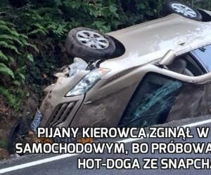 Alkohol + telefon + samochód + hot dog