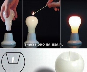 Żarówkowa świeczka
