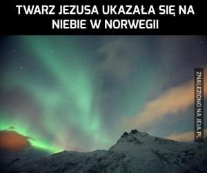Twarz Jezusa na niebie w Norwegii